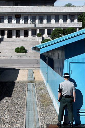 The space inward is North Korean area