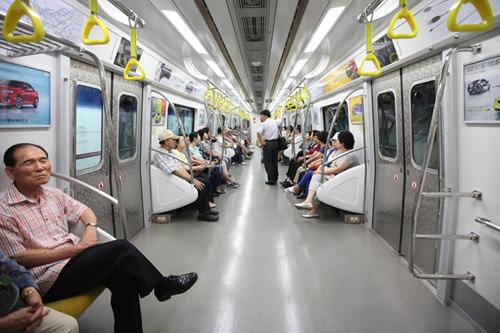 地铁9号线车厢