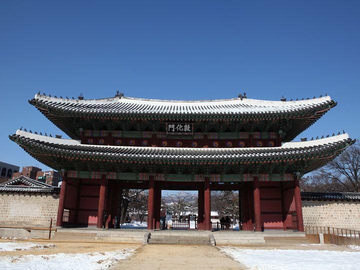 """首爾宮殿中現存的最古老的正門""""敦化門"""""""