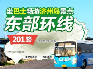 坐巴士畅游济州岛景点——201路东部环线
